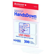 Graham Professional HandsDown Lint-Free Nail Wipes 200 Pack