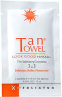 TanTowel XFoliator Towelettes