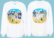 BEACH KITTENS SWEATSHIRT WHITE