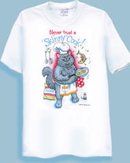 SKINNY COOK CAT T-SHIRT WHITE
