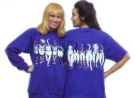 CATS COMING & GOING CAT SWEATSHIRT PURPLE