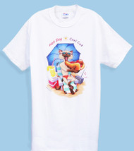HOT DOG COOL CAT NIGHTSHIRT WHITE OS