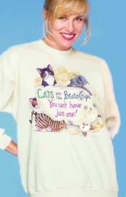 POTATO CHIP CAT SWEATSHIRT NATURAL