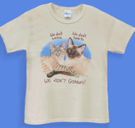 WE AINT GONNA LADIES CAT T-SHIRT NATURAL