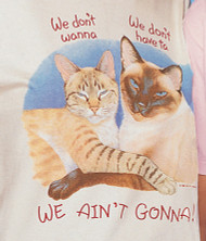WE AINT GONNA CAT T-SHIRT NATURAL