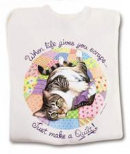 QUILT CAT T-SHIRT NATURAL