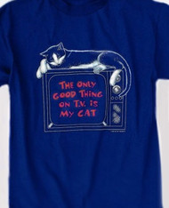 CAT TV T-SHIRT NAVY