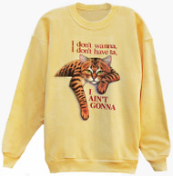 AINT GONNA TABBY CAT SWEATSHIRT YELLOW