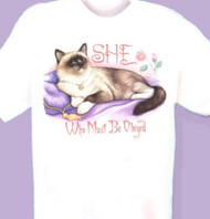 MUST BE OBEYED CAT SWEATSHIRT