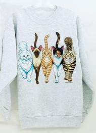 CATS COMING AND GOING DELUXE SWEATSHIRT ASH