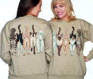 CATS COMING AND GOING DELUXE SWEATSHIRT TAN