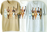 CATS COMING AND GOING DELUXE T-SHIRT TAN