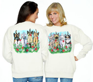 Wear your love for cats and flowers, looking gorgeous, coming and going in this comfy, cozy cat sweatshirt.