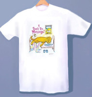 DONT DO MORNINGS CAT T-SHIRT WHITE