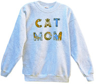 CAT MOM SWEATSHIRT ASH