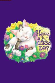 MICE DAY CAT T-SHIRT PURPLE