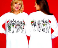 CHRISTMAS KITTENS COMING AND GOING LONG SLEEVE T-SHIRT WHITE