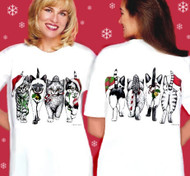 Why wear an ugly Christmas Sweater when you can wear an adorable, festive, front and back T-shirt!