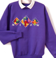 MEOW PURPLE SWEATSHIRT