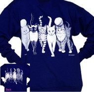 CATS COMING AND GOING SWEATSHIRT NAVY