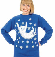 SNOW CAT LONG SLEEVE T-SHIRT ROYAL BLUE