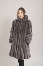Bella Saga Mink Coat In Blue Iris