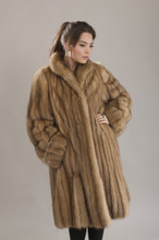 Golden Russian Sable Fur Coat