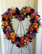 Open Heart-Orange and Purple $225