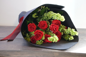HAND WRAPPED ROSE BOUQUET