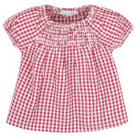 JoJo Maman Bébé Gingham Smocked Top