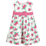 JoJo Maman Bébé Rose Print Party Dress