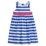 JoJo Maman Bébé Blue Striped Party Dress