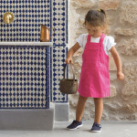 JoJo Maman Bébé Twill Dungaree Dress