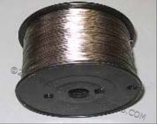Plastic coated stainless steel framing wire