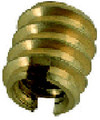 1/4-20 Brass Threaded Insert Small Diameter
