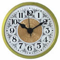 White Fancy Face Arabic 2-3/4 clock insert