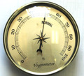 3 1/2 (90mm) Gold Hygrometer Insert/Fit Up