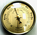 3 1/2 (90mm) Gold Barometer Instrument Insert/Fit Up