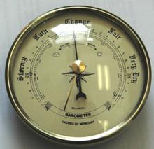 3 1/2 (90mm) Ivory Barometer Instrument Insert/Fit Up
