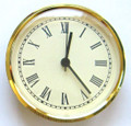 4 Inch Ivory Face Roman Clock Insert/Fit Up
