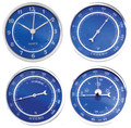 2 3/4 (72MM) Blue Face Clock &amp; Weather Insert/Fit Up