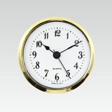 "3 7/8"" (98mm) White Arabic Standard Econ Quartz Clock Fit-Ups"