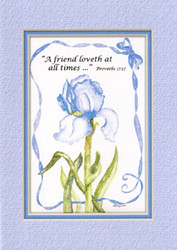KJV Scripture Blank Greeting Cards - Blue Iris (6-pack)