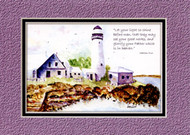 KJV Scripture Blank Greeting Cards - Lighthouse