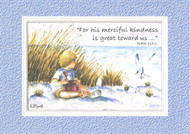 KJV Scripture Encouragement Card - Beach With Boy
