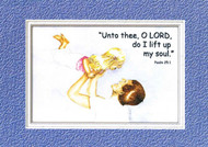 KJV Scripture EncouragementCard - Little Girl with Dad