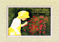KJV Scripture Blank Greeting Cards - Flower Girl