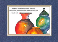 KJV Scripture Birthday Card - Vessels