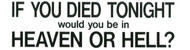 If You Died Tonight - Sticker