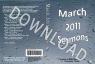 March 2011 Sermons - Downloadable MP3